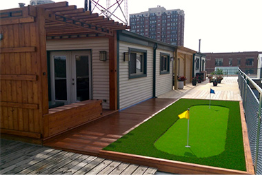 Golf Patio from Artificial Turf